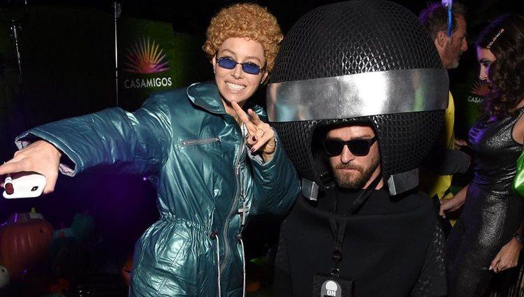 Jessica Biel y Justin Timberlake disfrazados/Foto: Instagram