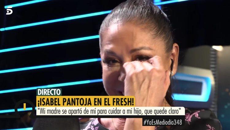 Isabel Pantoja hablando en directo en 'Ya es mediodía'/Foto: telecinco.es