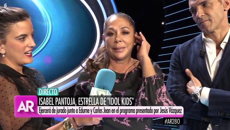 Isabel Pantoja hablando con Ana Rosa Quintana/Foto: telecinco.es