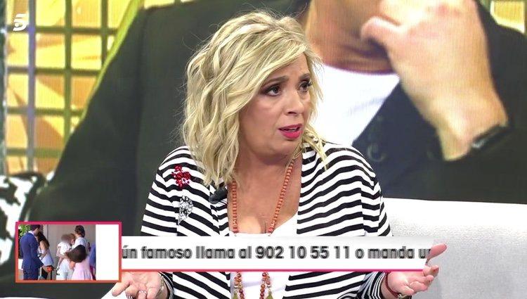 Carmen Borrego hablando de sus excompañeros / Telecinco.es