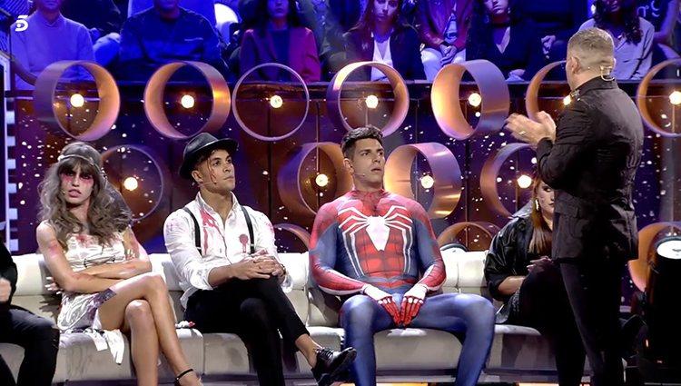 Sofía Suescun, Kiko Jiménez y Diego Matamoros en el plató de 'GH VIP 7'   Foto: Telecinco.es