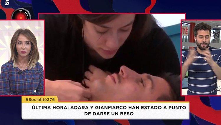 Adara y Gianmarco a punto de besarse en 'GH VIP 7' | Foto: Telecinco.es