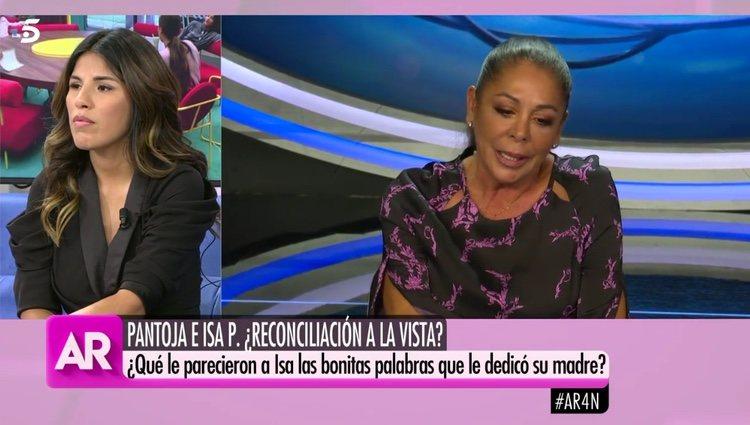Chabelita escuchando las palabras de su madre / Telecinco.es