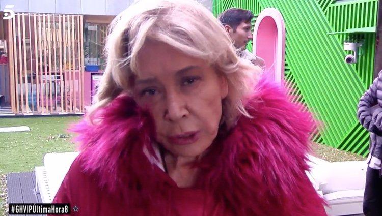 Mila Ximénez pidiendo que echen a Hugo Castejón |Foto: telecinco.es