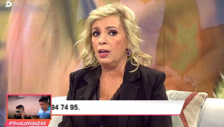 Carmen Borrego contestando a María Patiño / Telecinco.es