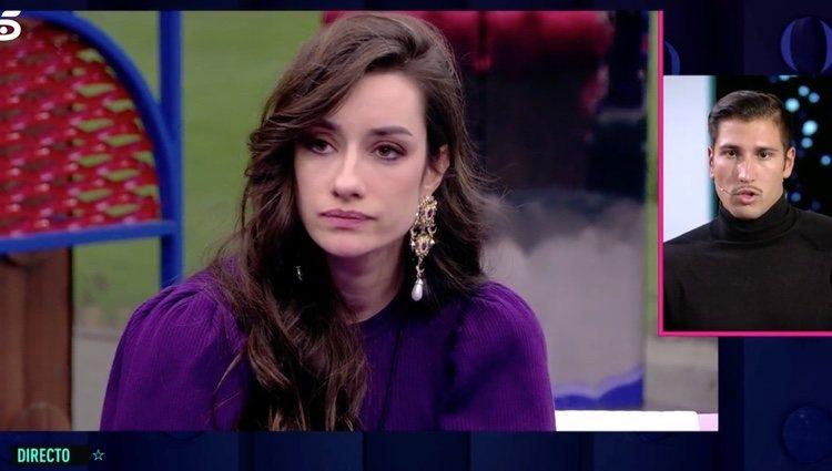 Adara y Gianmarco se despiden tras la expulsión | Foto: telecinco.es