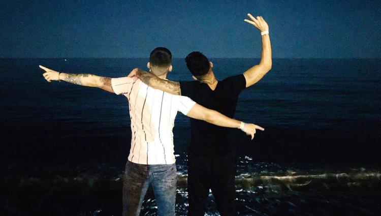 David Lafuente y Junior Ferbelles hacen oficial su romance con una primera foto juntos   Foto: Instagram