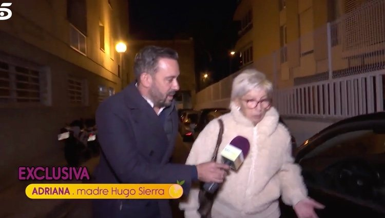La madre de Hugo Sirra muy enfadada   Foto: telecinco.es