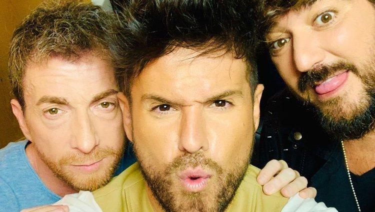 Pablo Motos junto a Pablo López y Antonio Orozco | Instagram