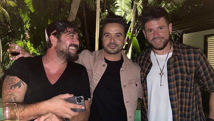 Antonio Orozco, Luis Fonsi y Pablo López | Instagram