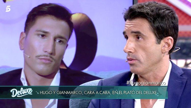 Hugo Sierra en el plató de 'Sálvame Deluxe'/Fuente: telecinco.es