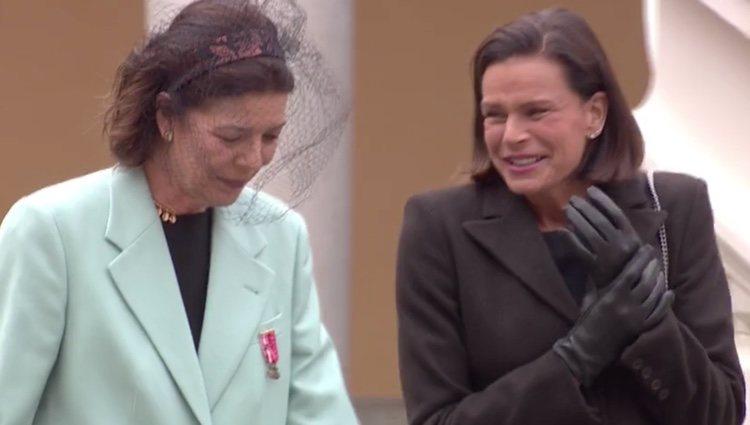Carolina y Estefanía de Mónaco, muy cómplices en el Día Nacional de Mónaco 2019