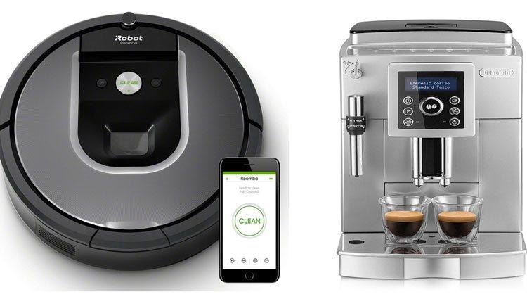 Roomba y cafetera