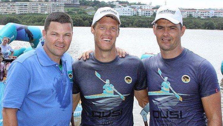 Sean Wittstock (a la izquierda del todo) en una maratón celebrada en Sudáfrica para recoger fondos para la Fundación Princesa Charlene de Mónaco/Foto: Facebook