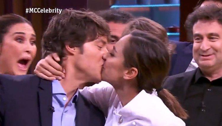Tamara celebra su victoria besando a Jordi Cruz - Fuente: Rtve.es