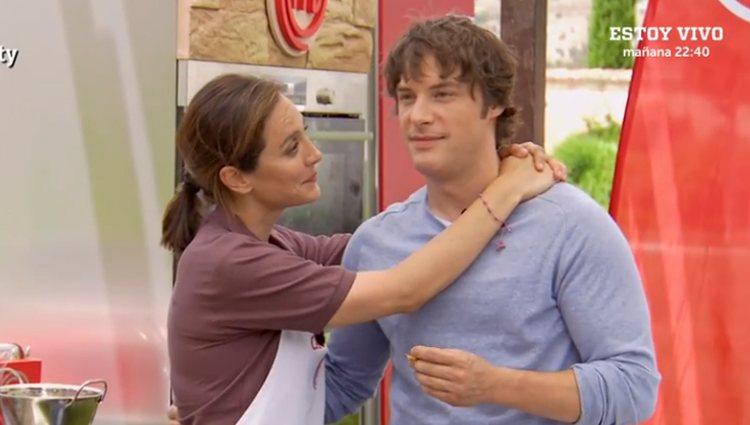 Tamara y Jordi en una de las pruebas de exteriores - Fuente: Rtve.es