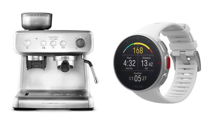 Cafetera y robot deportivo
