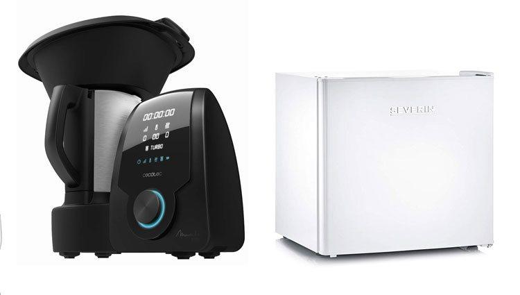 Robot de cocina y mini congelador