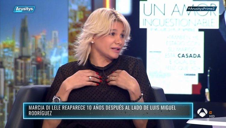 Marcia di Lele en el programa 'Arusitys Prime'/ Foto: Antena3.com