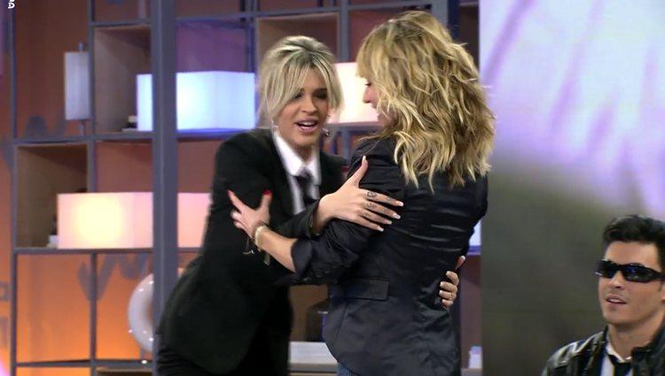 Acabaron arreglando sus diferencias en directo |Foto: Telecinco.es