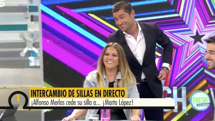 Marta López y Alfonso Merlos en 'Ya es mediodía' |Foto: telecinco.es