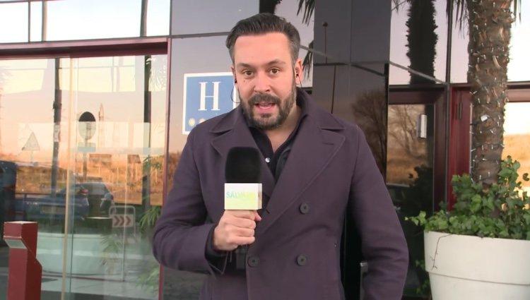 Kike Calleja dando la última hora de Gianmarco en 'Sálvame'/ Foto: Telecinco.es