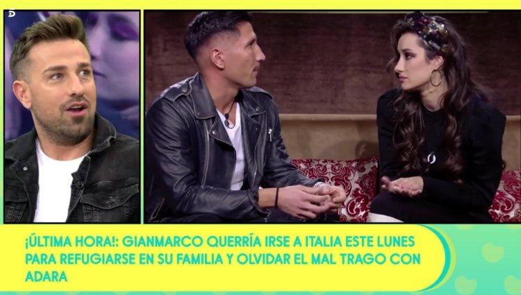 Rafa Mora hablando de Gianmarco y Adara en 'Sálvame'/ Foto: Telecinco.es