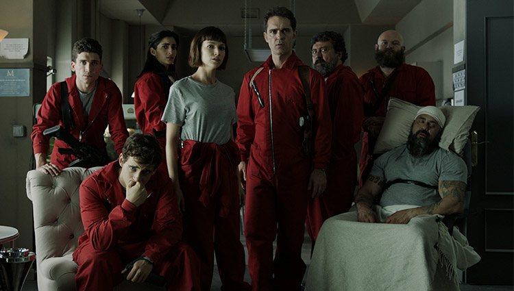 La banda de 'La casa de papel' en la segunda temporada de la serie