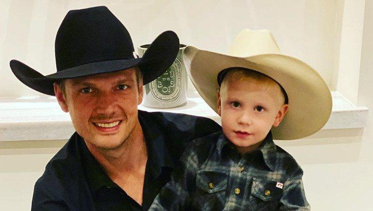 Nick Carter y su hijo mayor/Foto: Instagram