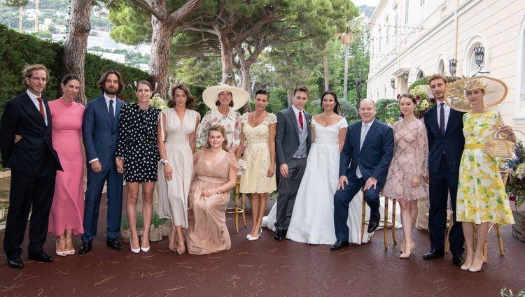 Los Grimaldi en la boda de Louis Ducruet y Marie Chevallier