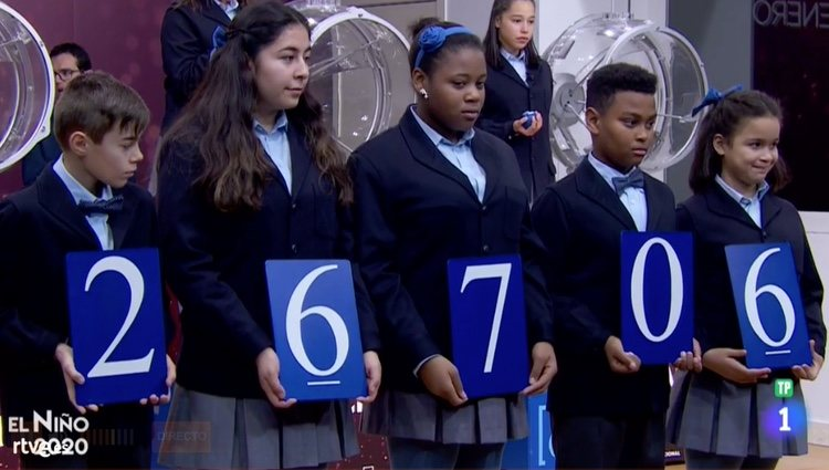 26706, el tercer premio de la Loteía de El Niño 2020 / Rtve.es