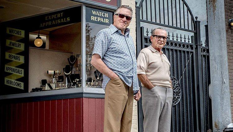 Robert De Niro y Joe Pesci en la última película de Scorsese, 'El irlandés'