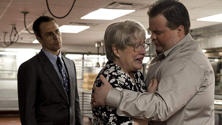 Sam Rockwell, Kathy Bates y Paul Walter Hauser en 'Richard Jewell'