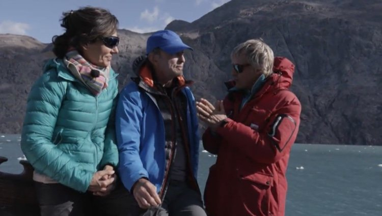 Ana Botín con su marido y Jesús Calleja en 'Planeta Calleja'