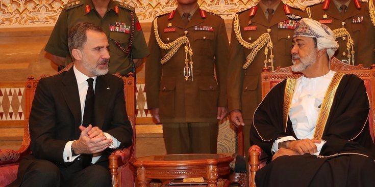 Haizam bin Tariq al Said se reúne con el Rey Felipe tras ser proclamado Sultán de Omán por deseo de su antecesor