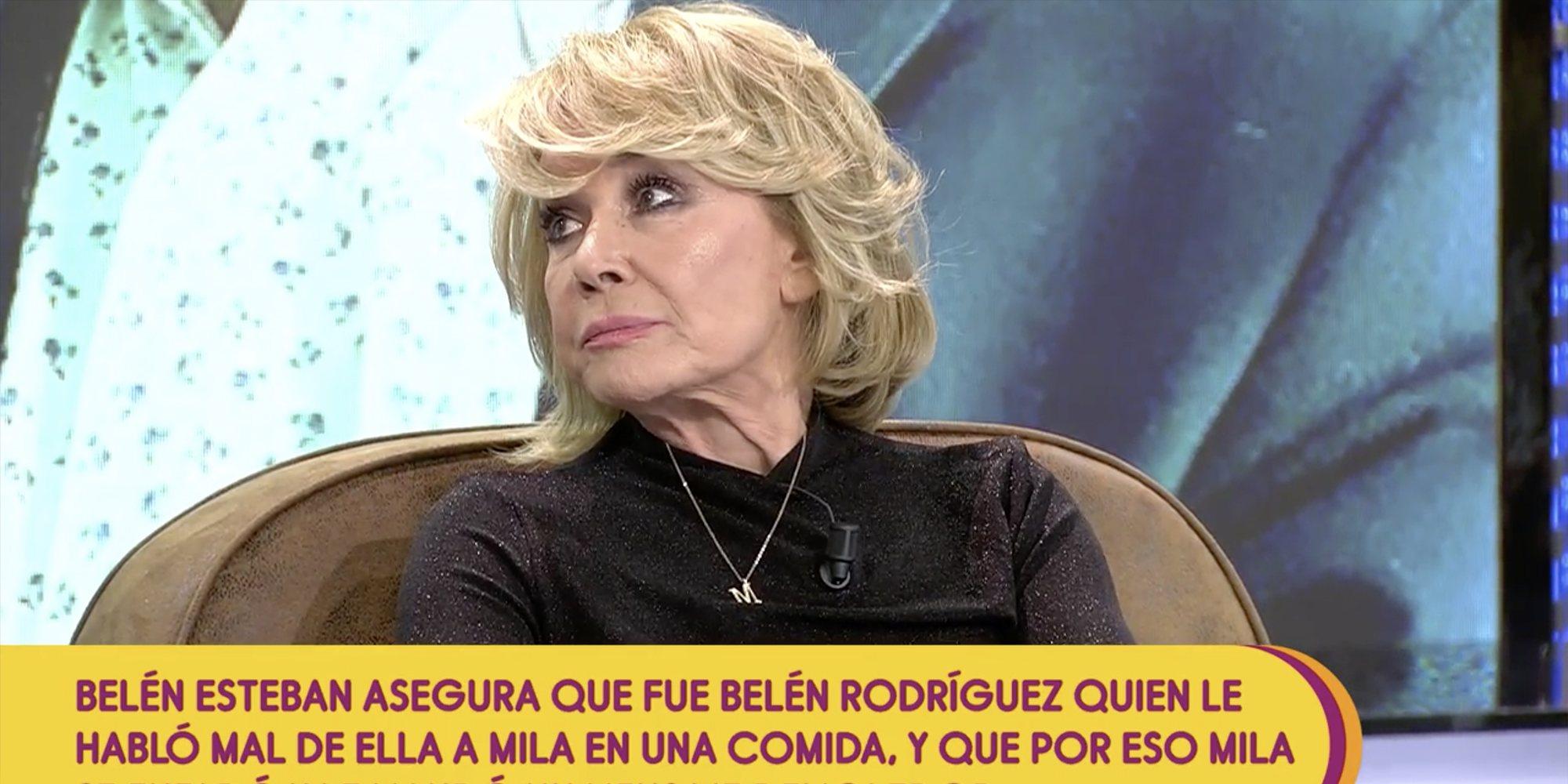 "Mila Ximénez defiende nuevamente a Belén Ro en 'Sálvame': ""No me ha metido mierda contra Belén Esteban"""