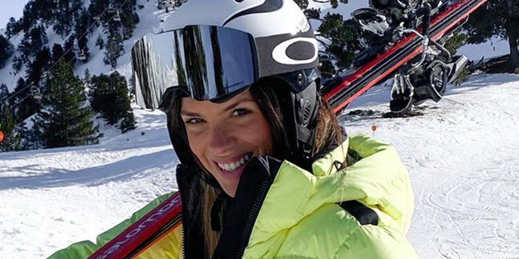 Laura Matamoros estuvo con Benji Aparicio y su hijo Matías de viaje en la nieve