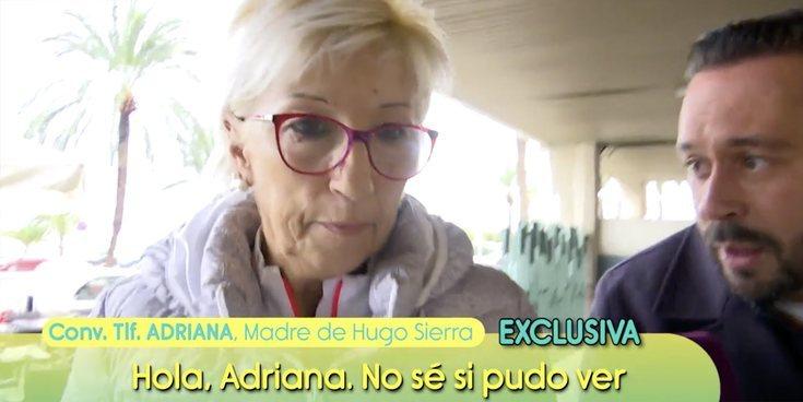 """La madre de Hugo Sierra da su opinión sobre Adara en 'Sálvame': """"No veía más allá de su nariz"""""""