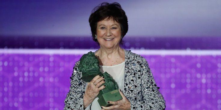 Julieta Serrano recoge su primer Goya a los 87 años con elogios a Pedro Almodóvar y a Antonio Banderas