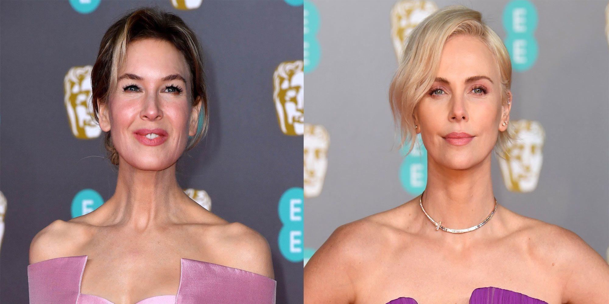 Renée Zellweger o Charlize Theron brillan con luz propia en la alfombra roja de los Premios BAFTA 2020