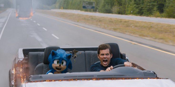 El loco viaje de James Marsden y Sonic en este clip exclusivo de 'Sonic: La Película'