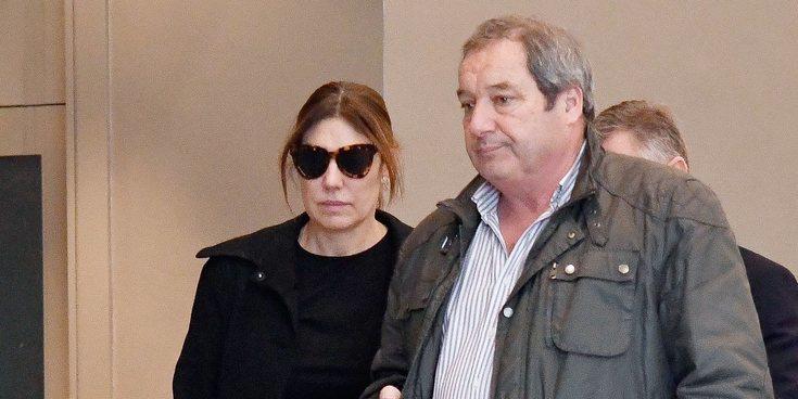 Raquel Revuelta, rota de dolor en el funeral de su exmarido y padre de sus hijos Miguel Ángel Jiménez