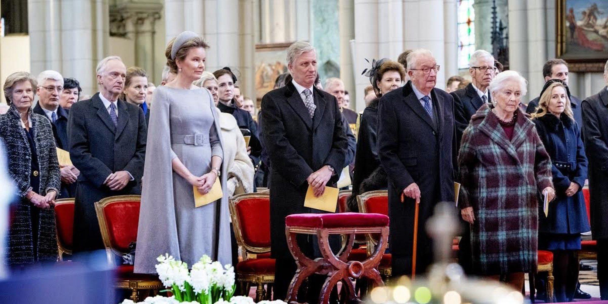 Alberto de Bélgica reaparece con los Reyes Felipe y Matilde y la Reina Paola tras confirmarse que Delphine Boël es su hija