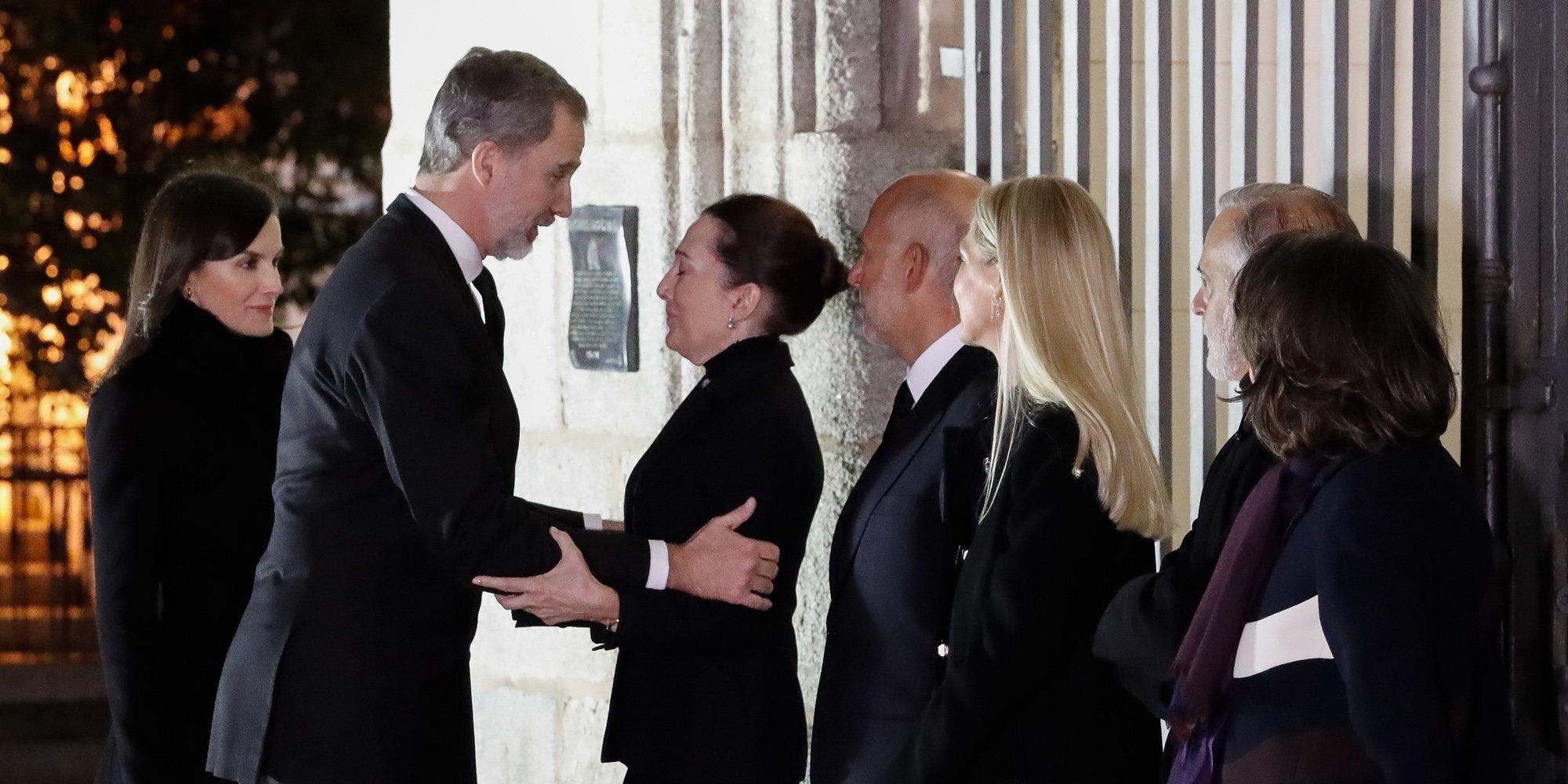 Los Reyes Felipe y Letizia vuelven a coincidir con Jaime de Marichalar en el funeral de Plácido Arango
