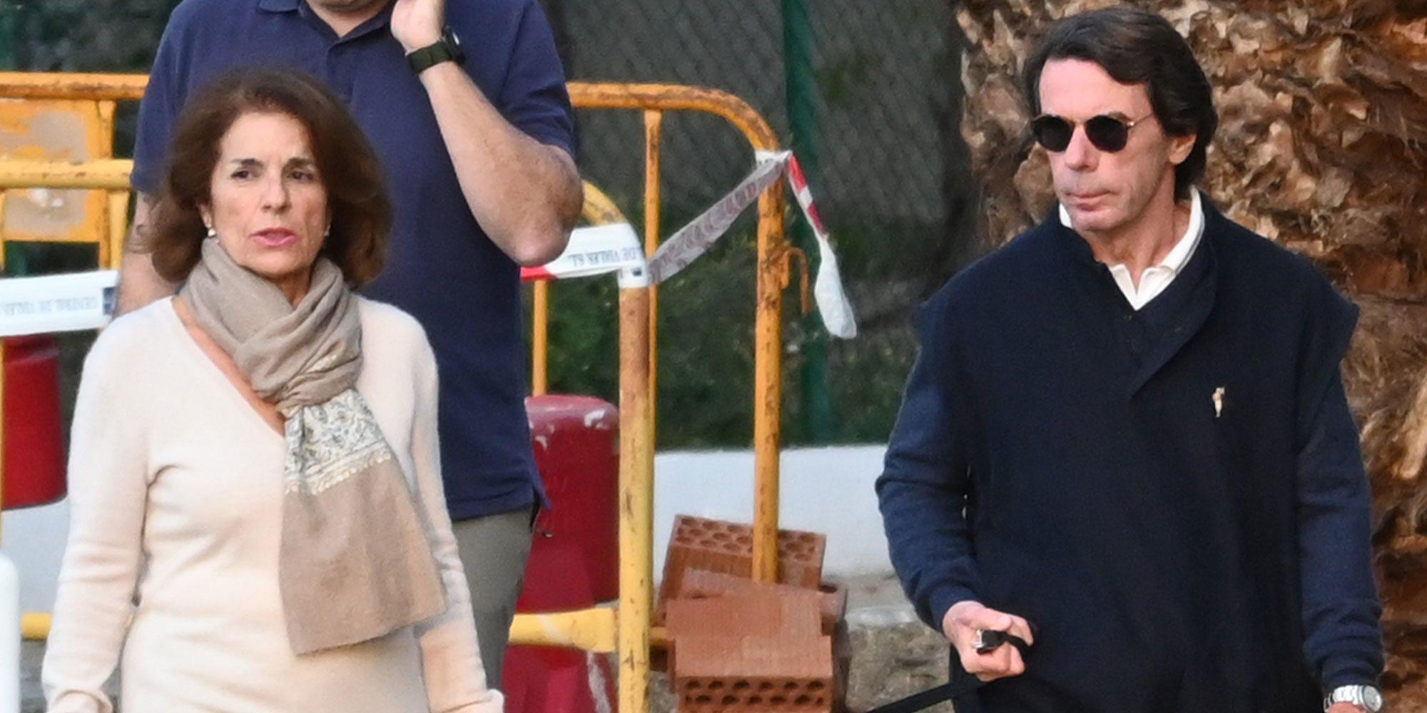 José María Aznar y Ana Botella huyen de Madrid por el coronavirus y se pasean por Marbella