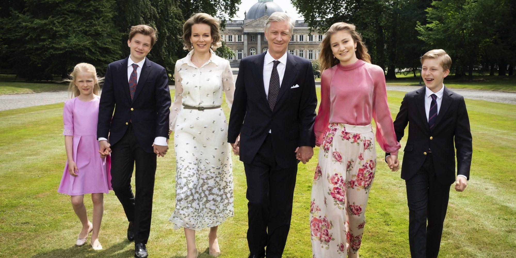 El doble gesto solidario de Isabel, Gabriel, Manuel y Leonor de Bélgica contra el coronavirus