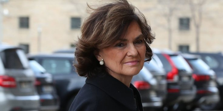 Carmen Calvo da positivo en coronavirus tras ingresar en el hospital por una infección respiratoria