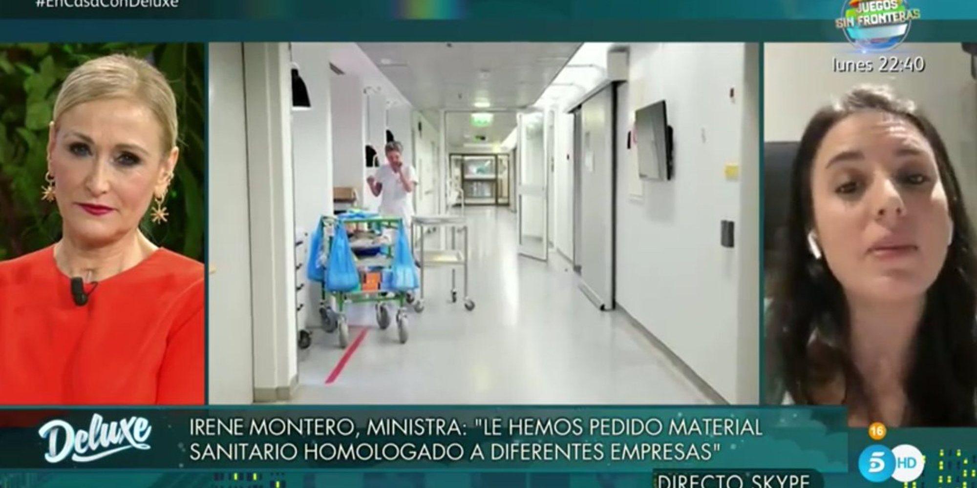 Críticas a Cristina Cifuentes por los reproches a Irene Montero en 'Sábado Deluxe'
