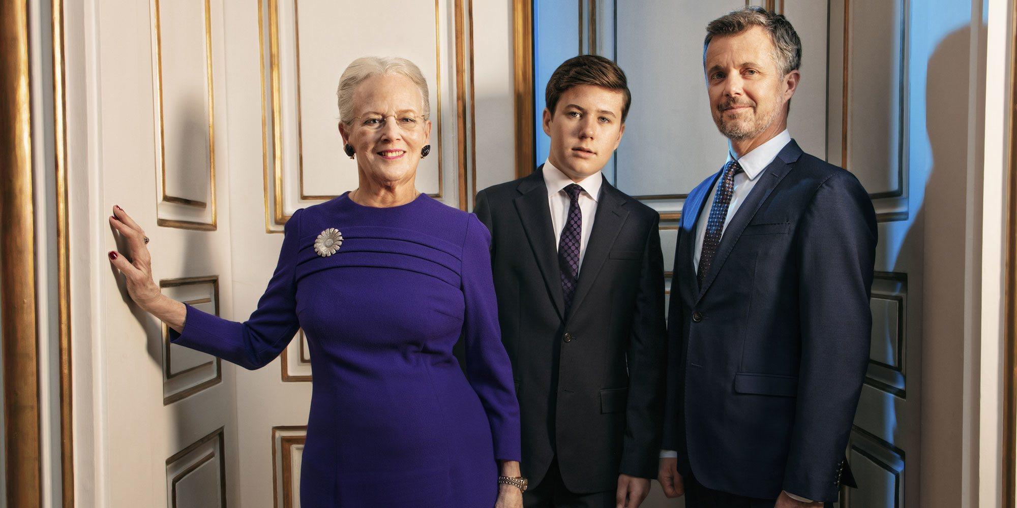 El posado de Margarita de Dinamarca: recuerdo al pasado y presencia del futuro con Federico y Christian de Dinamarca