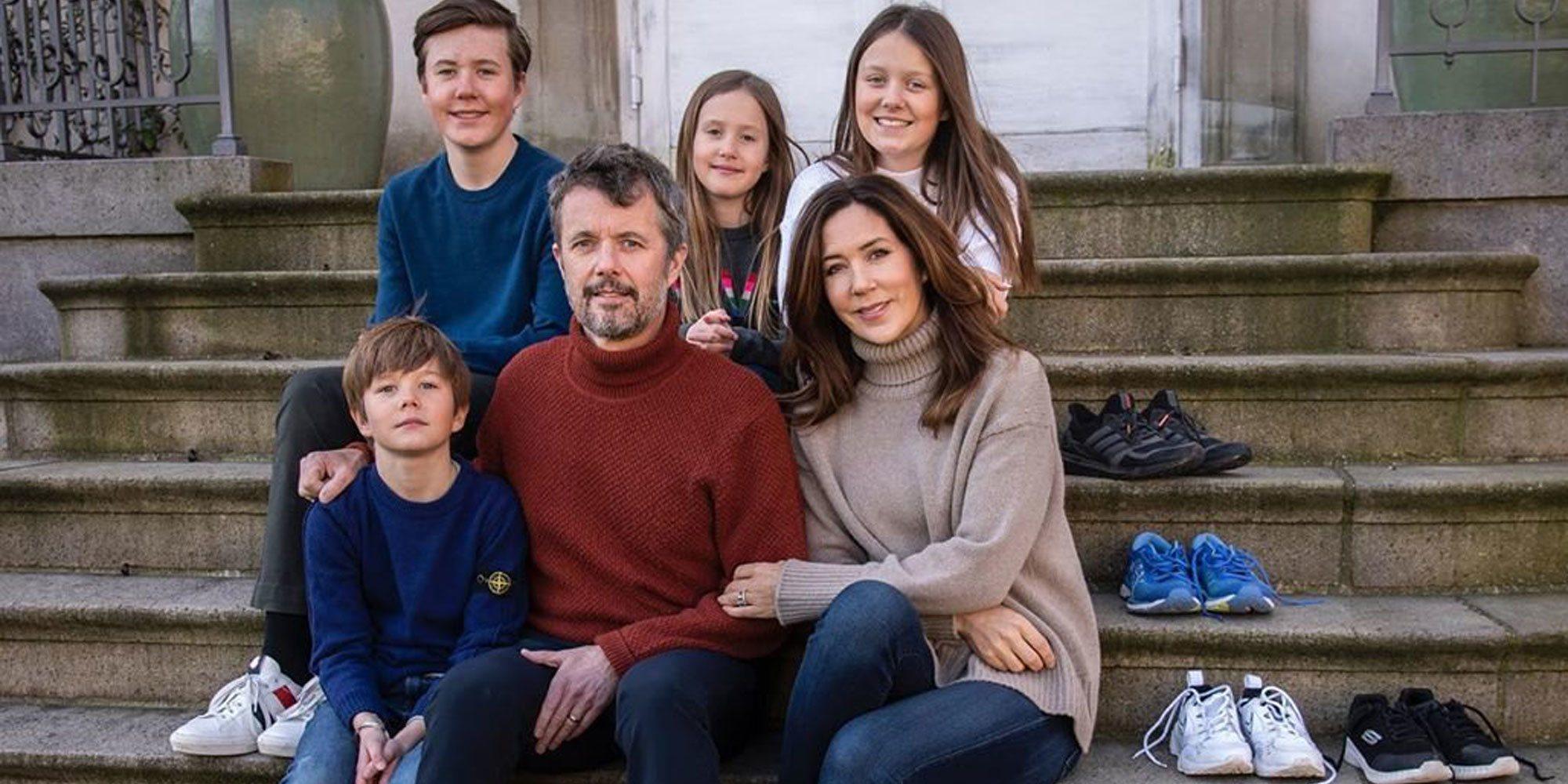 Federico y Mary Dinamarca y sus hijos Christian, Isabel, Vicente y Josefina muestran cómo sobrellevan la cuarentena